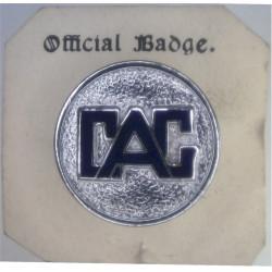 Civil Air Guard Lapel Badge - Circular CAG Type   Chrome and enamelled Lapel or sweet-heart badge