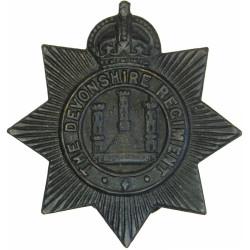 Devonshire Regiment Buttonhole Badge  Bronze Lapel or sweet-heart badge