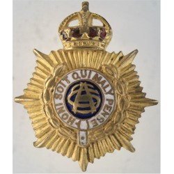 Army Service Corps - Pre-1918 Lapel Badge with King's Crown. Gilt and enamel Lapel or sweet-heart badge