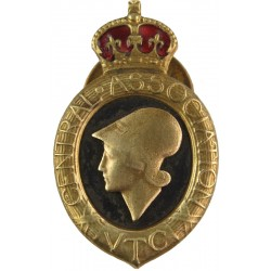 Central Association Volunteer Training Corps - WW1 Buttonhole Badge with King's Crown. Enamel Lapel or sweet-heart badge