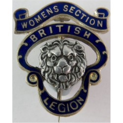 British Legion Women's Section - Pre-1971 Serial Numbered  Gilt and enamel Lapel or sweet-heart badge