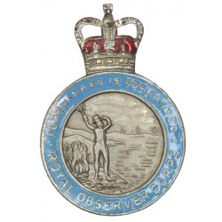 Royal Observer Corps Buttonhole Badge with Queen Elizabeth's Crown. Enamel Lapel or sweet-heart badge