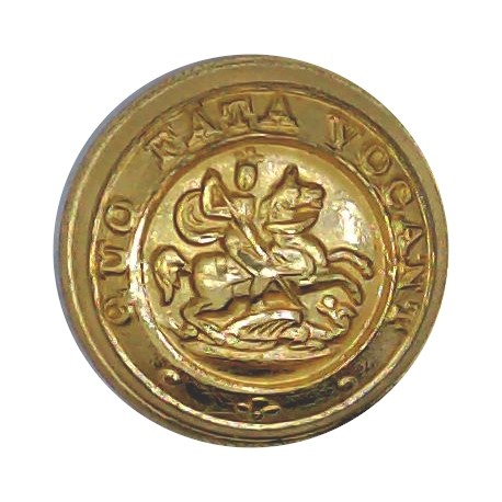 Irish Defence Forces - Army - Harp With Letters IV 25mm - Gold Colour Anodised Staybrite military uniform button
