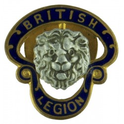 British Legion Button-Hole Badge - Pre-1971 - Large Serial Numbered  Gilt and enamel Lapel or sweet-heart badge