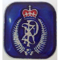 New Zealand Police - Cap Badge Motif On Blue Rectangle  Chrome and enamelled Lapel or sweet-heart badge