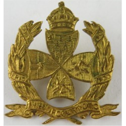 Inns Of Court OTC Brooch-Pin Fitting with King's Crown. Gilt Lapel or sweet-heart badge