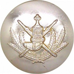 Irish Guards - Button For Embroidered Shoulder Star 16mm - Gold Colour  Anodised Staybrite military uniform button