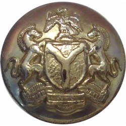 Federation Of Nigeria Army 13mm - Gold Colour  Anodised Staybrite military uniform button