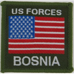 Flag-Patch - US Forces Bosnia   Woven Balkan War memorabilia
