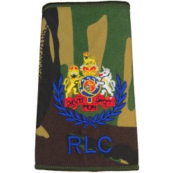 WO1 (Conductor) RLC (Royal Logistic Corps) DPM Camo Rank Slide with Queen Elizabeth's Crown. Embroidered Warrant Officer rank ba
