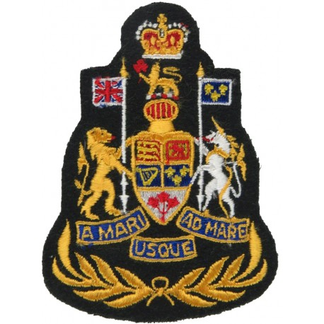 Command Chief Warrant Officer - Canadian Army Colour On Dark Green with Queen Elizabeth's Crown. Embroidered Warrant Officer ran