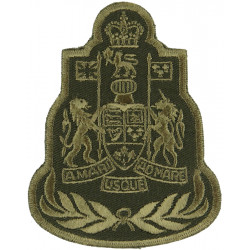 Command Chief Warrant Officer - Canadian Army Green On Olive with Queen Elizabeth's Crown. Embroidered Warrant Officer rank badg