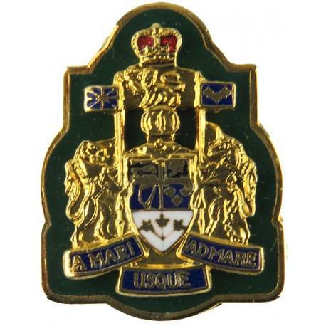 Chief Warrant Officer - Canadian Army For Collar with Queen Elizabeth's Crown. Gilt and enamel Warrant Officer rank badge