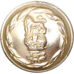 Federation Of Nigeria Army 19.5mm - Gold Colour Anodised Staybrite military uniform button