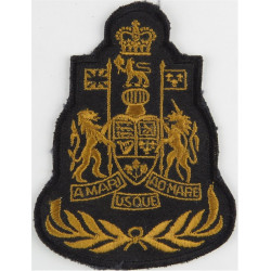 Command Chief Warrant Officer - Canadian Army Brown On Black with Queen Elizabeth's Crown. Embroidered Warrant Officer rank badg