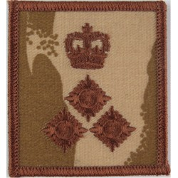 Brigadier's Rank Badge - For Combat Helmet Brown On Desert Camo with Queen Elizabeth's Crown. Embroidered Officer rank badge
