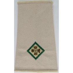 Second Lieutenant (Intelligence) (Green-Edged Pip) Rank Slide - Sand  Embroidered Officer rank badge