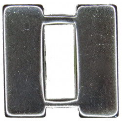 US Army Captain 2 Silver Bars  Anodised Officer rank badge