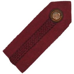 Brigadier's Dull Cherry Gorget - Crimson Gimp - RAMC Service Dress - GviR with King's Crown. Brass Officer rank badge