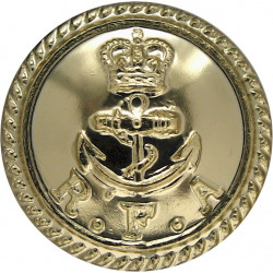 Royal Engineers - EiiR (RE Wording On Rim Not Scoll) 14mm - Gold Colour with Queen Elizabeth's Crown. Anodised Staybrite militar