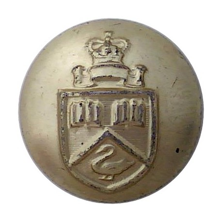 Irish Defence Forces - Army - Harp With Letters IV 16mm - Gold Colour Anodised Staybrite military uniform button