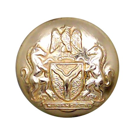 Royal Marines - Rare Colour 24.5mm Silver Colour with Queen Elizabeth's Crown. Anodised Staybrite military uniform button