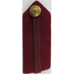 Brigadier's Dull Cherry Gorget - Crimson Gimp - RAMC Service Dress - EiiR with Queen Elizabeth's Crown. Gilt Officer rank badge