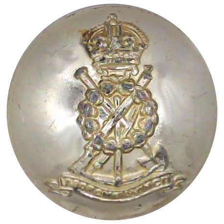 Royal Pioneer Corps (pre-1952) - Rubbed But Rare 25.5mm - Gold Colour with King's Crown. Anodised Staybrite military uniform but