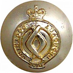 Cameronians (Scottish Rifles) 19mm - Black Queen's Crown. Horn Military uniform button