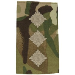 Captain - Green On MTP Camouflage Rank Slide  Embroidered Officer rank badge