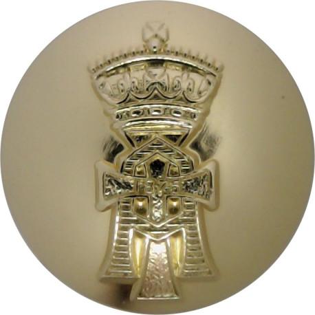 6th Queen Elizabeth's Own Gurkha Rifles 25mm - Black Queen's Crown. Plastic Military uniform button