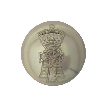 6th Queen Elizabeth's Own Gurkha Rifles 25mm - Black with Queen Elizabeth's Crown. Plastic Military uniform button