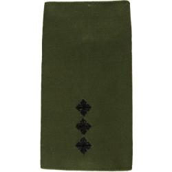 Royal Green Jackets - Captain- No Bugle Rank Slide On Olive  Embroidered Officer rank badge