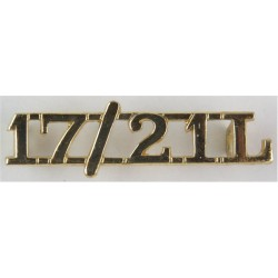 17/21 L (17th/21st Lancers) Pre-1993  Anodised Army Staybrite shoulder title