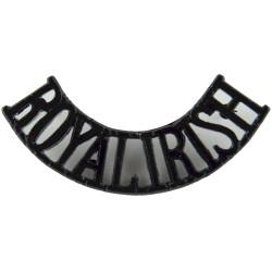 Royal Irish (Royal Irish Regiment) Black - Post-1992  Anodised Army Staybrite shoulder title