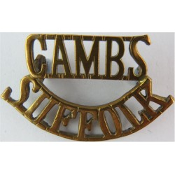 Cambs / Suffolk (Cambs & Suffolk Reserve Battalion) 1917-1919  Brass Army metal shoulder title