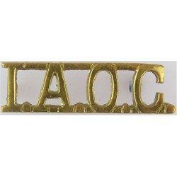IAOC (Indian Army Ordnance Corps) 48mm Wide  Brass Army metal shoulder title