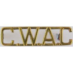 CWAC (Canadian Women's Army Corps)   Brass Army metal shoulder title