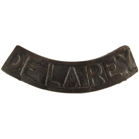 De La Rey (Regiment De La Rey - South Africa) Post-1934  Bronze Army metal shoulder title