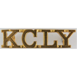KCLY (Kent & County Of London Yeomanry)   Brass Army metal shoulder title