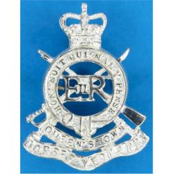 Bugle / Somerset (Somerset Light Infantry) 1918-1954 Mouthpiece FL  Brass Army metal shoulder title