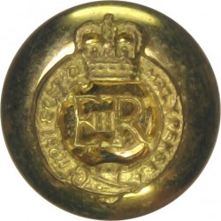 Royal Regiment of Fusiliers 15.5mm Mounted Dome Silver-plate and gilt Military uniform button