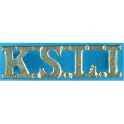 KSLI (King's Shropshire Light Infantry) 36mm Long  White Metal Army metal shoulder title