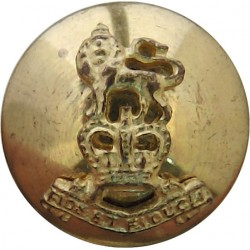 Royal Warwickshire Regiment 15.5mm Mounted Dome  Silver-plate and gilt Military uniform button