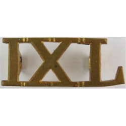 IXL (9th Queen's Royal Lancers) 34.5mm Wide  Brass Army metal shoulder title