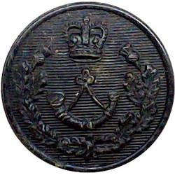 Cameronians (Scottish Rifles) 19mm - Black with Queen Elizabeth's Crown. Horn Military uniform button