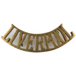 Liverpool (King's Regiment (Liverpool)) Pre-1902  Brass Army metal shoulder title