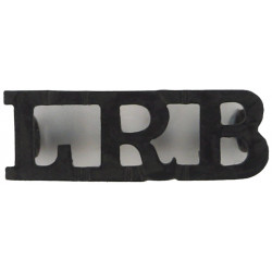 LRB (London Rifle Brigade) Post-1937 Officer-Only - Black  Brass Army metal shoulder title