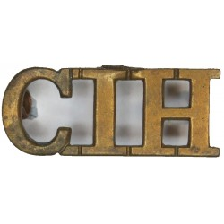 CIH (Central India Horse)   Brass Army metal shoulder title