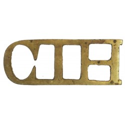 CIH (Central India Horse) Cast  Brass Army metal shoulder title